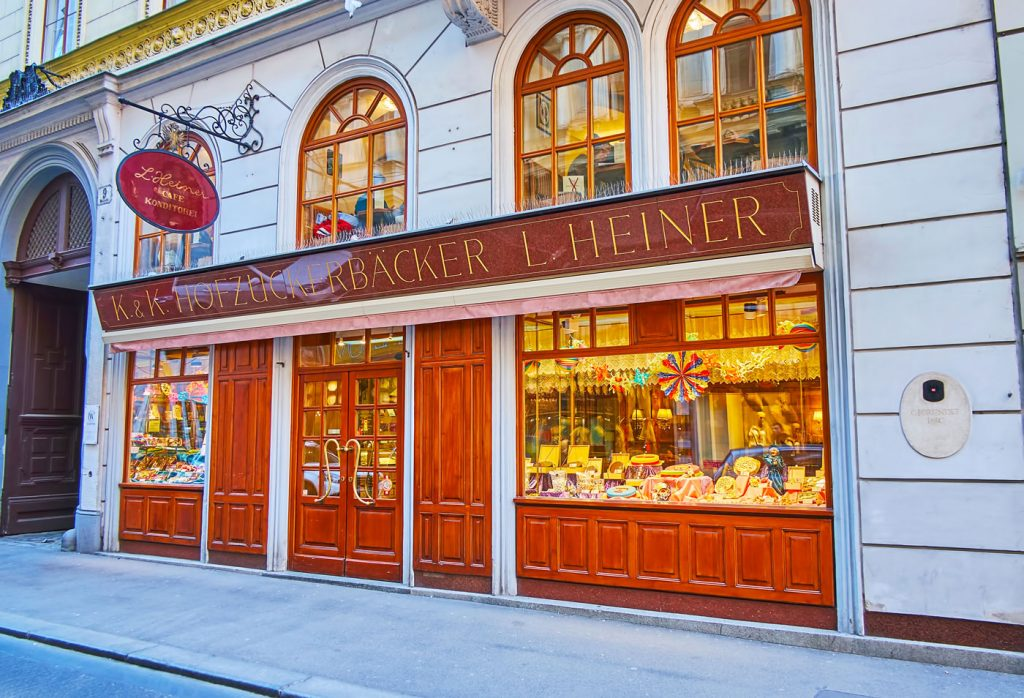 The vintage cafe-confectionery, on Feb 19, 2019 in Vienna, Austria